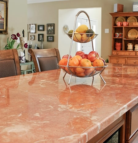 kitchen marble countertop install